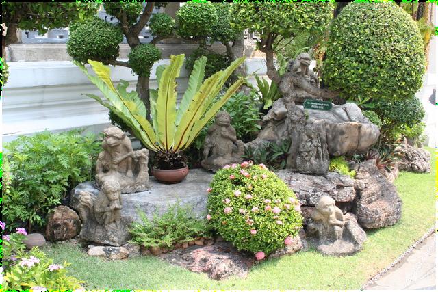 Dans les jardins de Bangkok